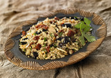 quinoa with olives and dried tomatoes