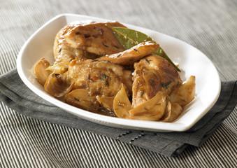 caramelized chicken with garlic