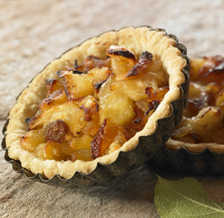 apple and grape tartlets