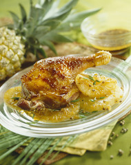 caramelized chicken with pineapple