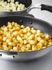 diced sauteed potatoes