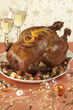 stuffed turkey with apples and foie gras