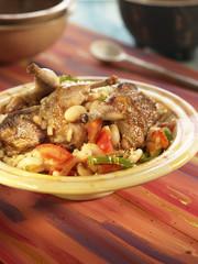 vegetable and partridge couscous