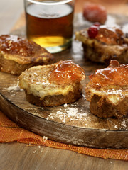 french toast with orange marmelade