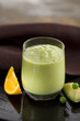 pea,orange and avocado milkshake