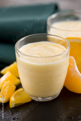 oranage and mandarin milkshake
