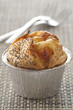 goat's cheese and poppyseed soufflé