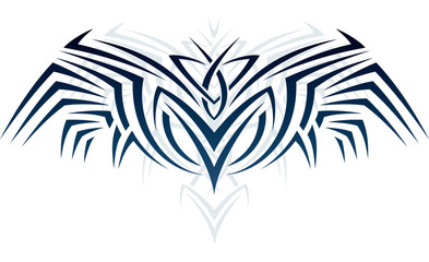 Wings in tattoo style