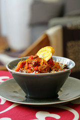 creole rice with chicken and peppers
