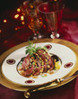 duck magret sprinkled with dried fruit