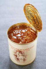 can of apricot jam