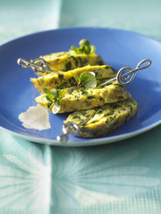 comté and watercress rolled omelette