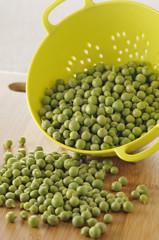 colander of peas