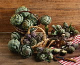 baskets of artichokes