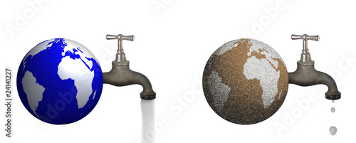 Leinwandbild Motiv Erde Wasserverschwendung Naturkatastrophe