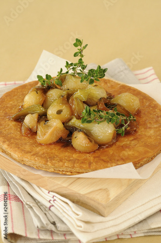 confit onion thin pastry tart