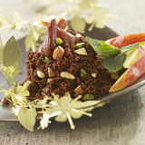 chocolate tabbouleh with dried fruit
