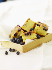 white chocolate and bilberry brownies