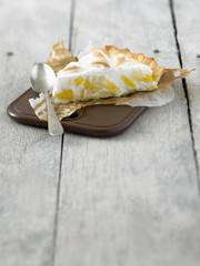 mango and pineapple soufflé tart