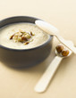 cream of cauliflower soup with hazelnuts