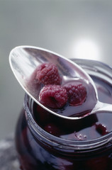 jar of raspberry jelly
