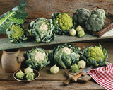 selection of cabbages