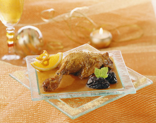 duck with orange sauce and prunes