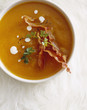 country pumpkin and bacon soup
