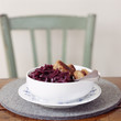 frikadelles with red cabbage