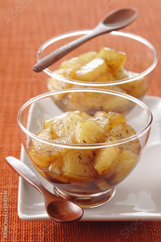 caramelized pineapple fruit salad