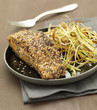 roast salmon with seed crust