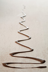 melted chocolate zigzag