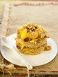 oat flake,raisin and apple sticky cake
