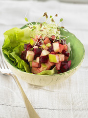 beetroot,granny smith and onion salad
