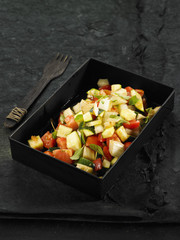 tomato,zucchini and fennel ratatouille