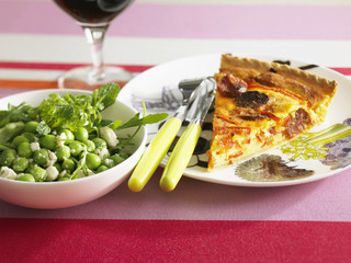 chorizo and red pepper quiche