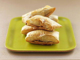 stuffed filo pastry turnovers