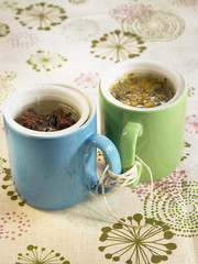 star anise infusion and camomile tea