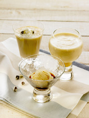 affogato liqueur and egg punch