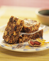 cereal and dried fruit turron
