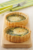 goat's cheese and spinach tartlets