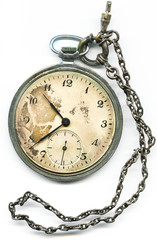 pocketwatch retro isolated