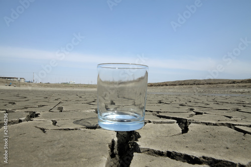 a glass in the dry land - 24146296