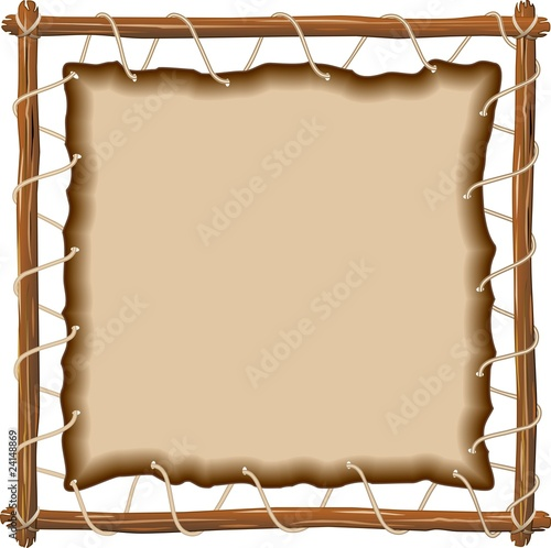 Sfondo di Cuoio su Telaio-Leather on Frame Background-Vector