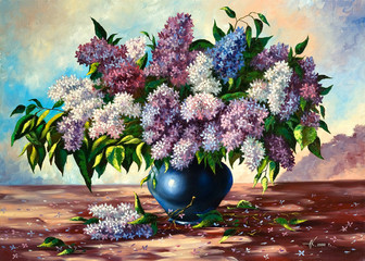Lilac bouquet in a vase © dred2010