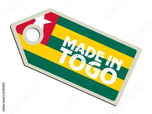 vector label Made in Togo