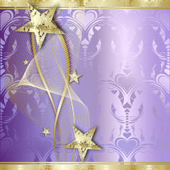 Elegant Gold Background with stars