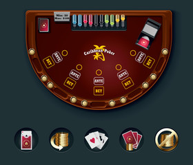Vector poker table layout