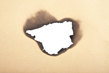 burnt paper background isolated