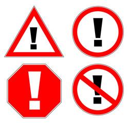 Verkehrsschild Ausrufezeichen